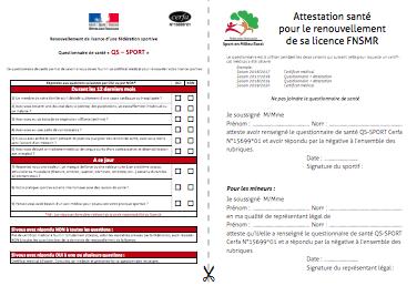 Le Certificat Medical Fnsmr Federation Nationale Du Sport En